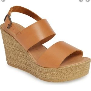 NWT! Seychelles downtime leather wedge - tan